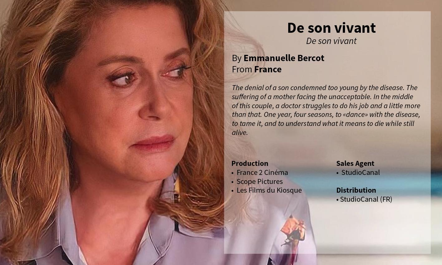 De son vivant Emmanuelle Bercot Catherine Deneuve